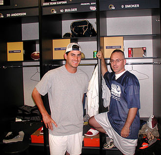 Marc Bulger - Bulger with a fan in October 2004