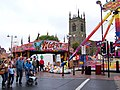Market Place fair and St Mary's Church, in Ilkeston, Derbyshire 03.jpg