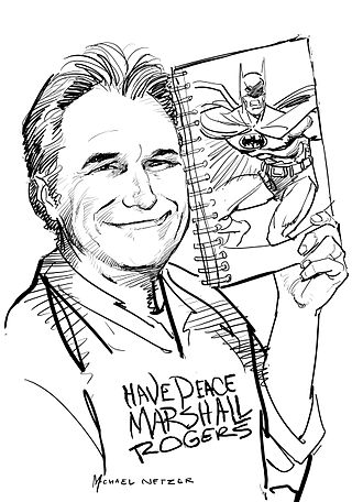 Marshall Rogers - Marshall Rogers portrait by Michael Netzer