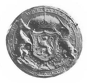 Royal Court of Scotland - The first Great Seal of Mary Queen of Scots (1542–67)