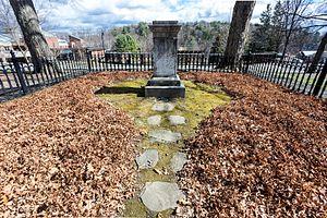 Mary Lyon - Mary Lyon's tombstone on the Mount Holyoke campus