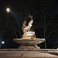 Mary Schenley Memorial Fountain on a snowy night.jpg