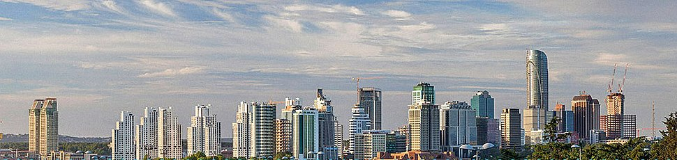 A panorama of Maslak business district, situated on the European side of the city, near Levent.