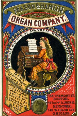 Mason & Hamlin - Trade card, 19th century