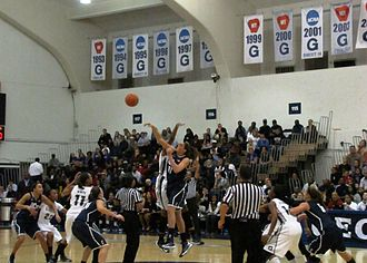 Georgetown Hoyas women's basketball - Georgetown and UConn tip off at a game in 2013 at McDonough Arena.