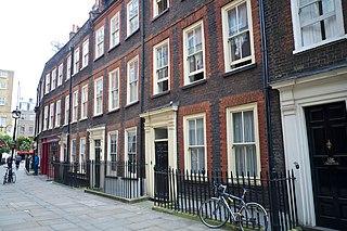 Meard Street street in Soho, London