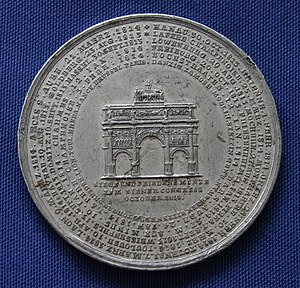 German Campaign of 1813 - Battles of the German Campaign inscribed on a medal.
