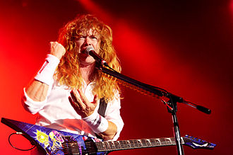 Dave Mustaine - Mustaine performing with Megadeth at the No Sleep Til Festival in Perth (2010)