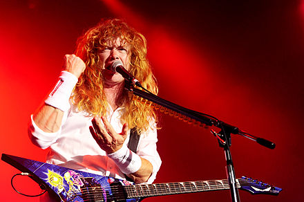 Mustaine performing with Megadeth at the No Sleep Til Festival in Perth (2010) Megadeth @ Arena Joondalup (12 12 2010) (5272639121).jpg