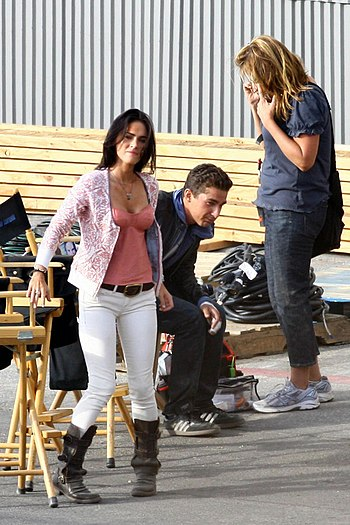 Megan Fox, Shia LaBeouf on the Transformers 2.