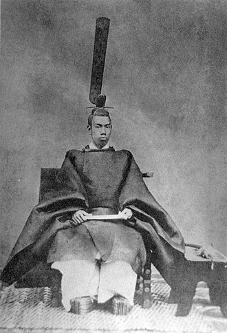 Shinsengumi -  Emperor Meiji photographed in ceremonial robes in 1872
