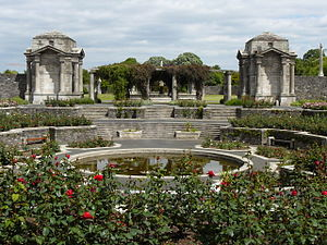 Irish National War Memorial Gardens - Centre piece, the Circular Rose Garden pond