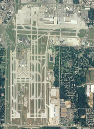 Memphis International Airport - 2013 USGS aerial photo