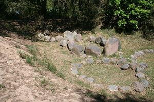 Altes Lager (Menzlin) - Stone ships at Altes Lager Menzlin