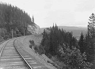 Meråker Line - The Meråker Line through Meråker in the 1880s