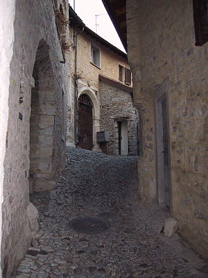 Meride - A narrow lane in Meride