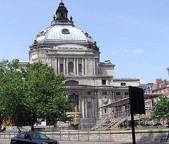 Methodist Central Hall, London, the location of the first meeting of the United Nations General Assembly in 1946. Methodist.central.hall.london.arp.jpg