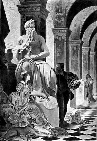 Виттория и Микеланджело у «Моисея», картина XIX века