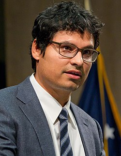 Michael Peña Labor Cesar E. Chavez Memorial Auditorium (cropped).jpg