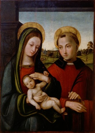 Michele Coltellini - Virgin and Child with St Stefan