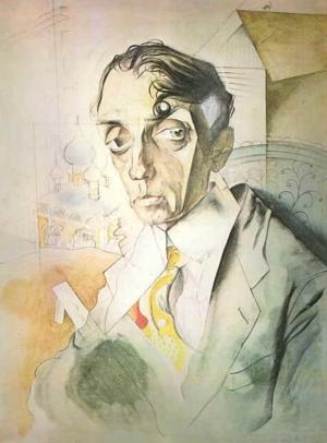 Mikhail Kuzmin -  Portrait by Yury Annenkov (1919).