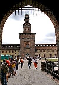 Castello Sforzesco, sign of the power of the House of Sforza.