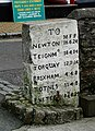 Milestone at the Dartmouth Lower Ferry, Kingswear.jpg