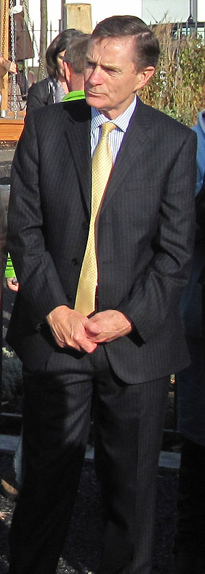 John McColl - McColl at the opening of the Millennium Town Park in Saint Helier, 2011