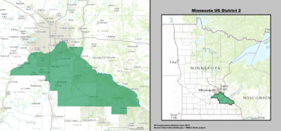Minnesota's 2nd congressional district - since January 3, 2013.