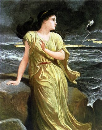 Miranda (The Tempest) - Miranda, watching the storm