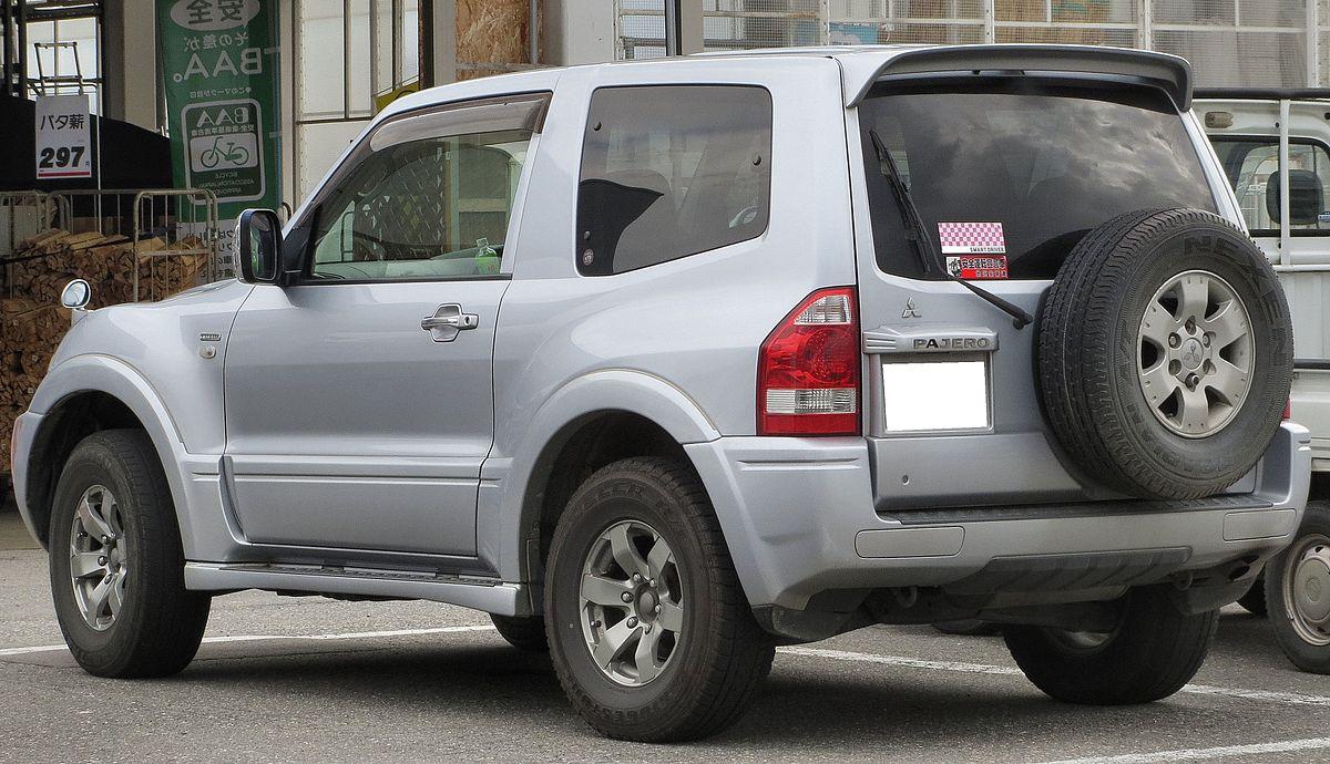 File:Mitsubishi V68W Pajero Short-Body EXCEED 3200 DI-D Rear