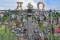 Mitterbach am Erlaufsee - katholischer Friedhof - 4 - Detail geschmiedetes Tor.jpg