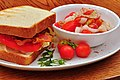 Mmm... BLT and a summer salad (6019387808).jpg