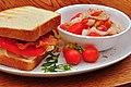 Mmm... BLT and a summer salad (6019387808).jpg