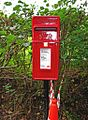 Modern post mounted postbox at Coppicegate (geograph 2439906).jpg