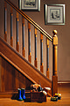 Modern staircaseErne collection staircase spindles with metal insert.jpg