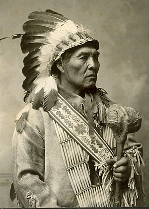 Modoc people - Photo of Modoc Yellow Hammer taken by Joseph Andrew Shuck before 1904. From the Lena Robitaille Collection at the Oklahoma Historical Society Photo Archives.