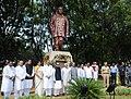 Mohd. Hamid Ansari paid homage at the statue of Late Shri Manoharbhai Patel, during his visit at Manoharbhai Patel Institute of Engineering & Technology, at Gondia in Maharashtra. The Governor of Maharashtra.jpg