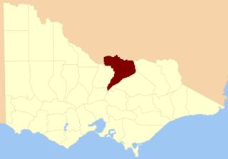 County of Moira Cadastral in Victoria, Australia