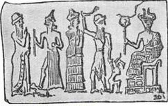 Moloch - Babylonian cylinder seal representing child sacrifice