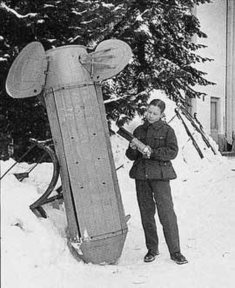 Cluster munition - During the Winter War of 1939–1940, the Soviet Union dropped RRAB-3, nicknamed Molotov bread baskets, which scattered incendiary bomblets, on Finland.