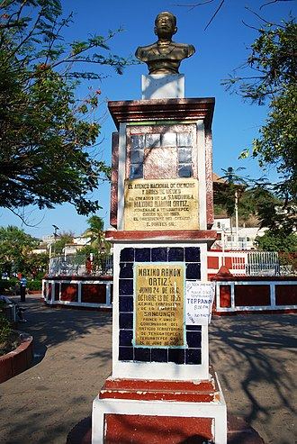 Tehuantepec - Monument to Maximo Ramon Ortiz in the main square