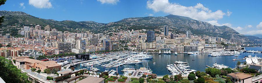 A wide view of La Condamine, Monaco