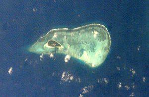 Money Island, Paracel Islands - Money Island viewed from NASA satellite.