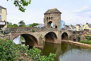 Monnow Bridge Grade I listed building and bridge in Monmouth, south-east Wales