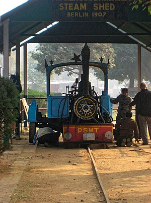 0-3-0 - Patiala monorail locomotive, at the Indian National Railway Museum