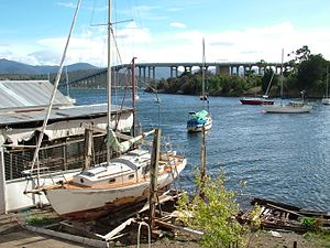 Montagu Bay, Tasmania - Montagu Bay, looking towards the Tasman Bridge