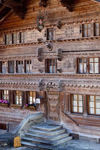 Haut-Intyamon - Croix-Blanche inn in Montbovon village
