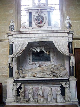 Robert Sackville, 2nd Earl of Dorset - Monument to Anne Sackville and her second husband Sir Edward Lewis, Edington Priory Church, Wiltshire