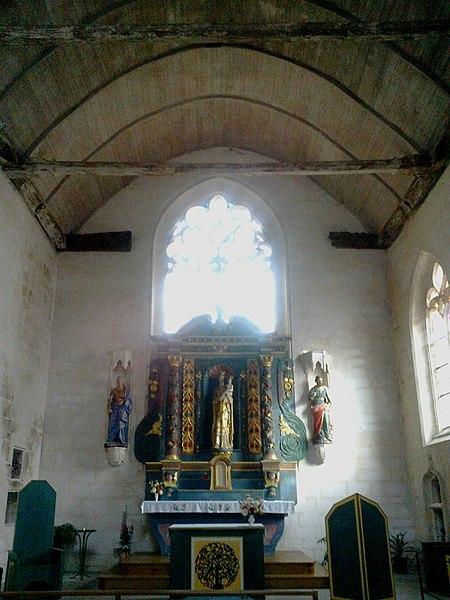 Morbihan Locmine Chapelle Congregation Choeur